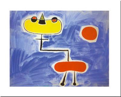 Figur Vor Roter Sonne-Joan Mir?-Art Print
