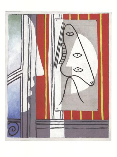 Figure and Profile-Pablo Picasso-Art Print