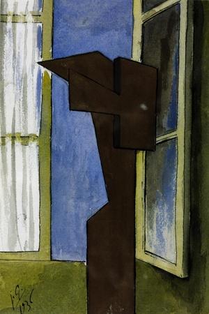 Figure at a Window-Julio González-Giclee Print