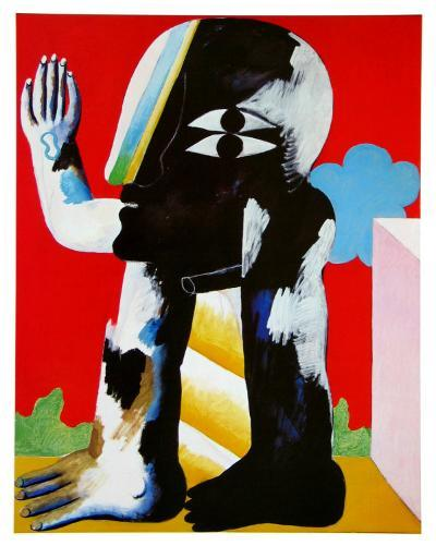 Figure Black and White, c.1967-Horst Antes-Art Print