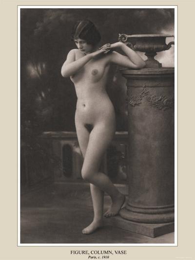Figure, Column, Vase--Photo