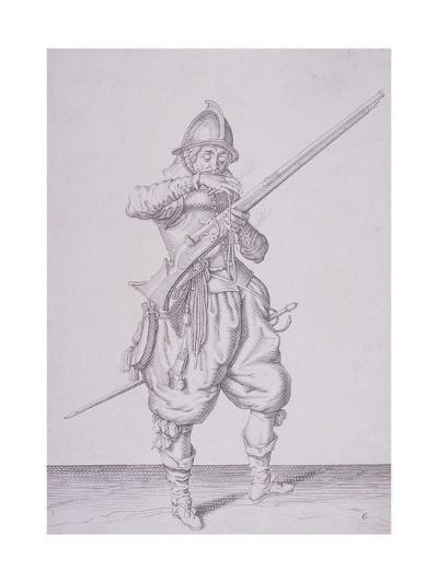 Figure in Military Clothing Holding a Musket and Wearing a Sword, 1607--Giclee Print
