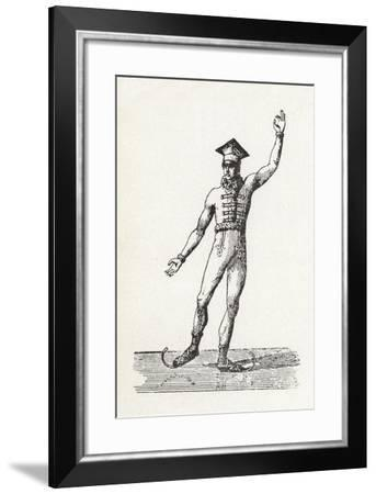 Figure of a Man Ice Skating--Framed Giclee Print