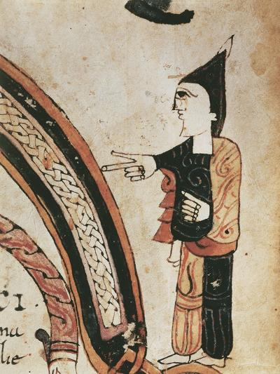 Figure of a Monk, Mozarabic Miniature from Liber Ordinum, 1052--Giclee Print