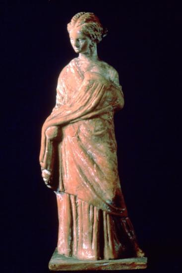 Figure of a woman, Greek, 3rd century. Artist: Unknown-Unknown-Giclee Print