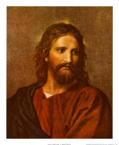 Figure of Christ-Heinrich Hofmann-Art Print