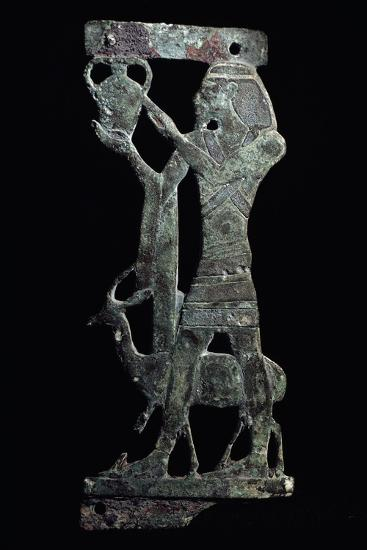 Figure of Tax, Syrian Prince Holding Up His Country's Tax, Bronze, New Kingdom--Giclee Print