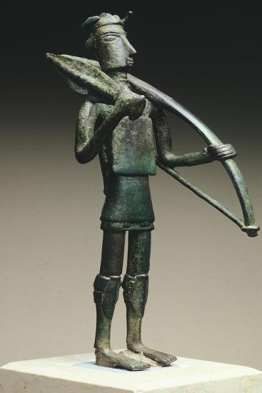 Figure of Warrior, Bronze Statue, Sardinia, Italy, Nuraghic Civilization--Giclee Print