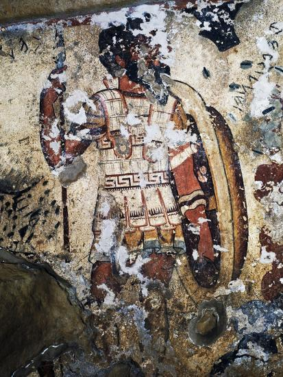 Figure of Warrior, Fresco of Tomb of Orcus, Necropolis of Tarquinia--Photographic Print