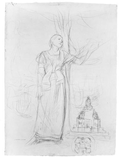 Figure Study for 'Joan of Arc'-Jules Bastien-Lepage-Giclee Print