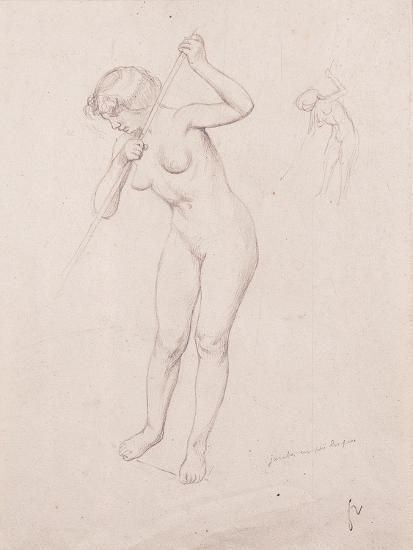 Figure Study for 'The Slaying of Orpheus'-F?lix Vallotton-Giclee Print