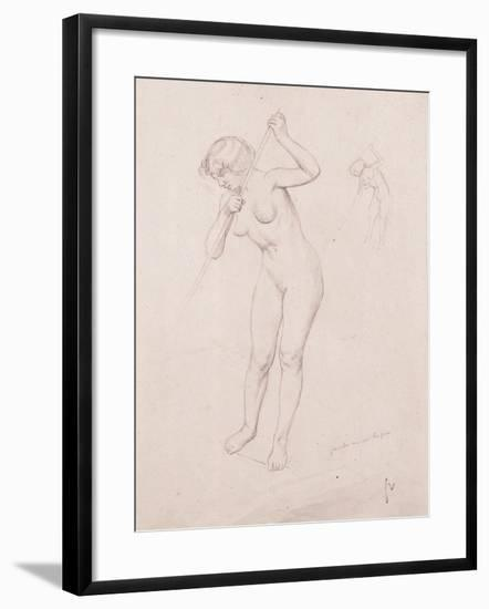 Figure Study for 'The Slaying of Orpheus'-Félix Vallotton-Framed Giclee Print
