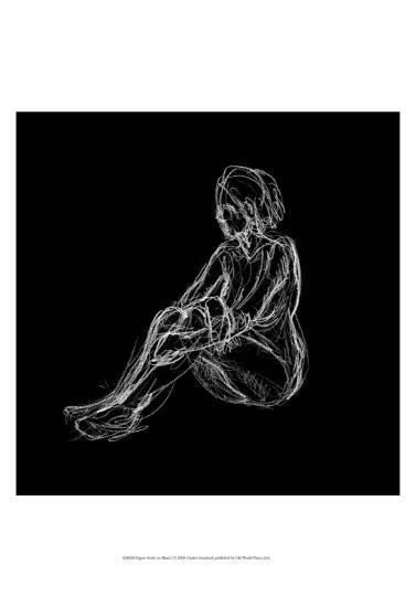 Figure Study on Black I-Charles Swinford-Art Print