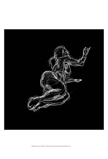Figure Study on Black IV-Charles Swinford-Art Print