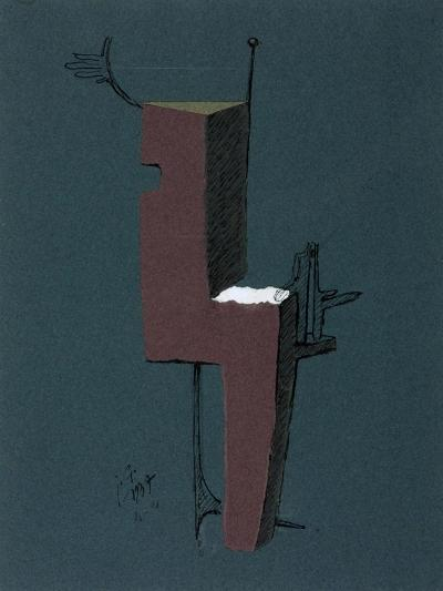 Figure with a White Rectangle-Julio González-Giclee Print