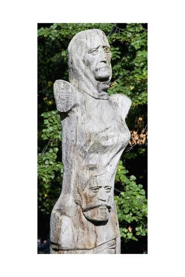 Figure with Two Faces, Ethnographic Museum, Sofia, Bulgaria--Giclee Print