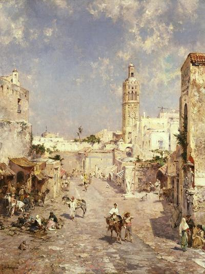 Figures in a Moorish Town-Jean-Baptiste-Camille Corot-Giclee Print