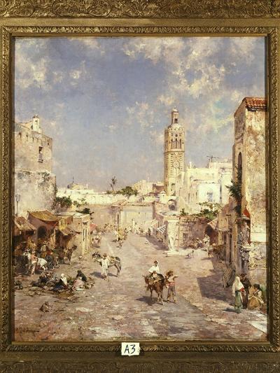 Figures in a Moorish Town-Franz Richard Unterberger-Giclee Print