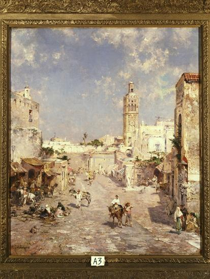 Figures in a Moorish Town-Franz Richard Unterberger-Giclee Print