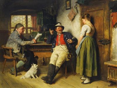 Figures in an Interior, 1891-Hugo Kauffmann-Giclee Print