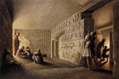 Figures in Egyptian Tombs-Luigi Mayer-Giclee Print