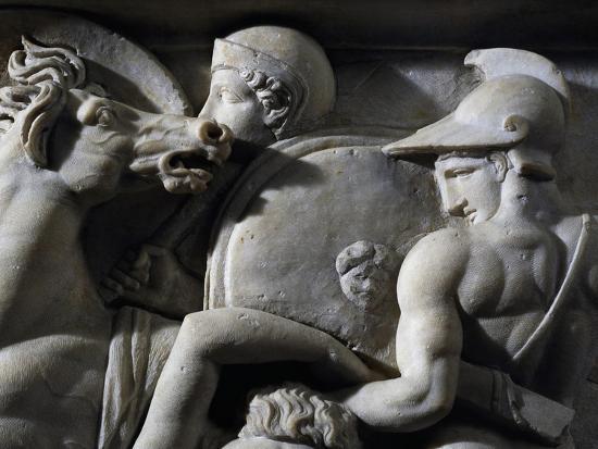 Figures of Greek Soldiers--Giclee Print