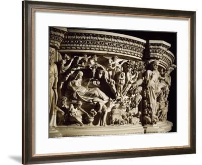 Figures of Prophets Framing Nativity, Scene from Life of Christ--Framed Giclee Print