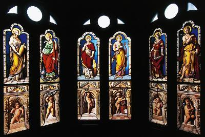 Figures of Saints, Stained Glass in Oratory, Royal Chateau De Blois--Photographic Print