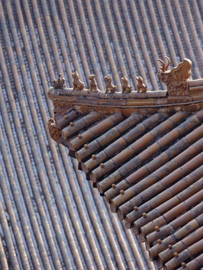 Figures on the Roof of the Summer Palace-Design Pics Inc-Photographic Print