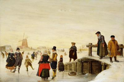 Figures Skating in a Dutch Landscape, C.1625-Hendrik Avercamp-Giclee Print