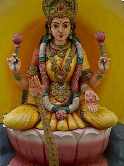 Figurine of a Hindu Goddess in Chettinad, India-Michael Melford-Photographic Print