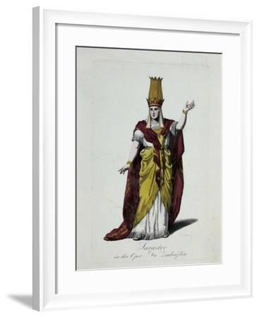 Figurine of Sarastro, Character from The Magic Flute, Opera by Wolfgang Amadeus Mozart-Karl Friedrich Thiele-Framed Giclee Print
