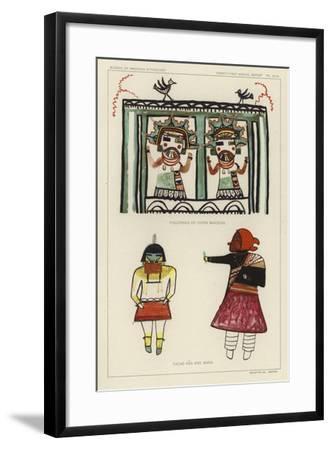 Figurines of Corn Maidens, Tacab Ana and Mana--Framed Giclee Print