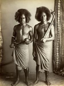 Fijian Men, Fiji, C.1880s
