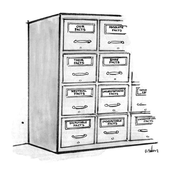 Filing Cabinets Labeled Our Facts