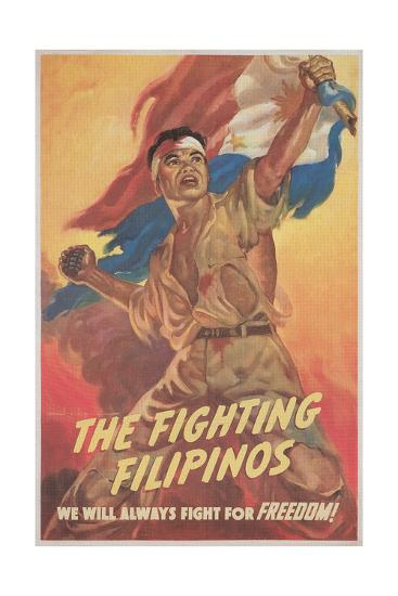 Filipino Freedom Fighter Poster--Giclee Print