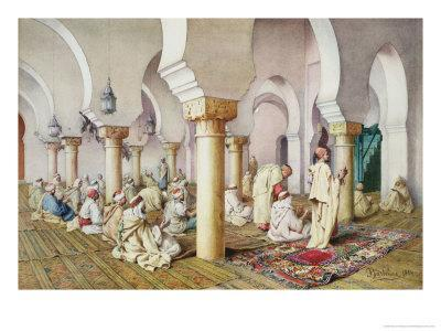 At Prayer in the Mosque, 1884