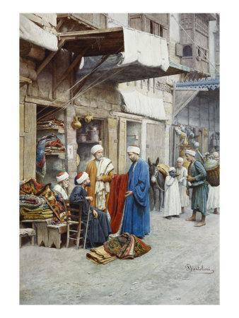 Carpet Seller in a Bazaar