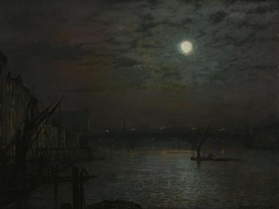 Southwark Bridge by Moonlight, 1882