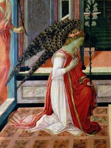 Annunciation (Detail) by Filippino Lippi