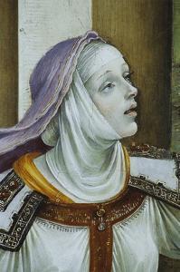 Detail of Druisana from Saint John the Evangelist Reuscitating Druisana by Filippino Lippi