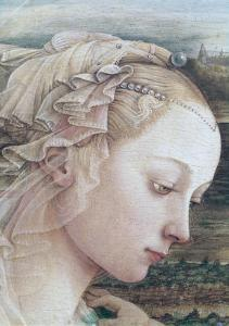 Detail of Madonna and Child by Filippino Lippi