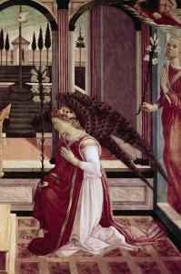 Detail of The Annunciation by Filippino Lippi
