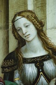 Detail of Young Woman from Saint John the Evangelist Reuscitating Druisana by Filippino Lippi