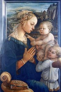 Madonna and Child with Angels, C1455 by Filippino Lippi