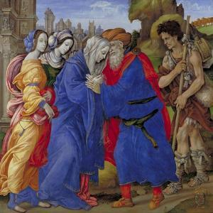 Meeting of Saints Joachim and Anne at the Golden Gate, 1497 by Filippino Lippi
