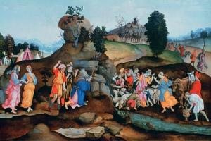 Moses Brings Forth Water Out of the Rock, C1500 by Filippino Lippi