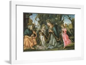 Nativity with Two Angels, Possibly Early 1490s (Panel) by Filippino Lippi