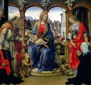 Nerli Altarpiece: Madonna and Child with the Young St. John the Baptist by Filippino Lippi