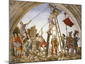 Scenes from the Life of Saint Philip: Crucifixion of the Saint by Filippino Lippi